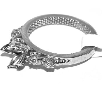 Dramatic Diamond Engagement ring set wit