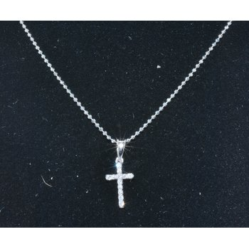 14K WG Diamond Cross Pendant