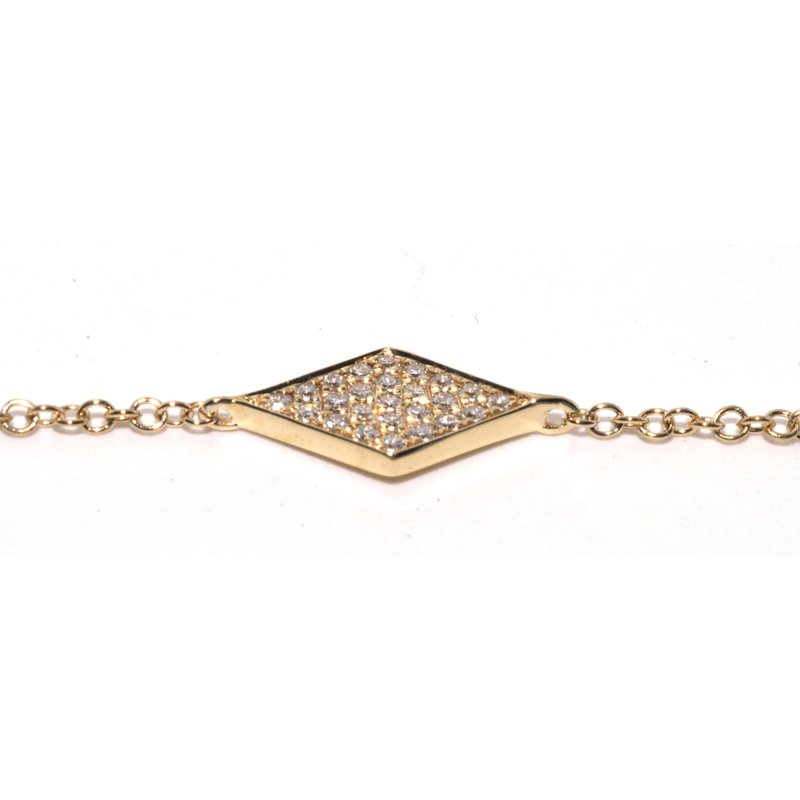 Windy City Signature Rhombus Diamond Bracelet