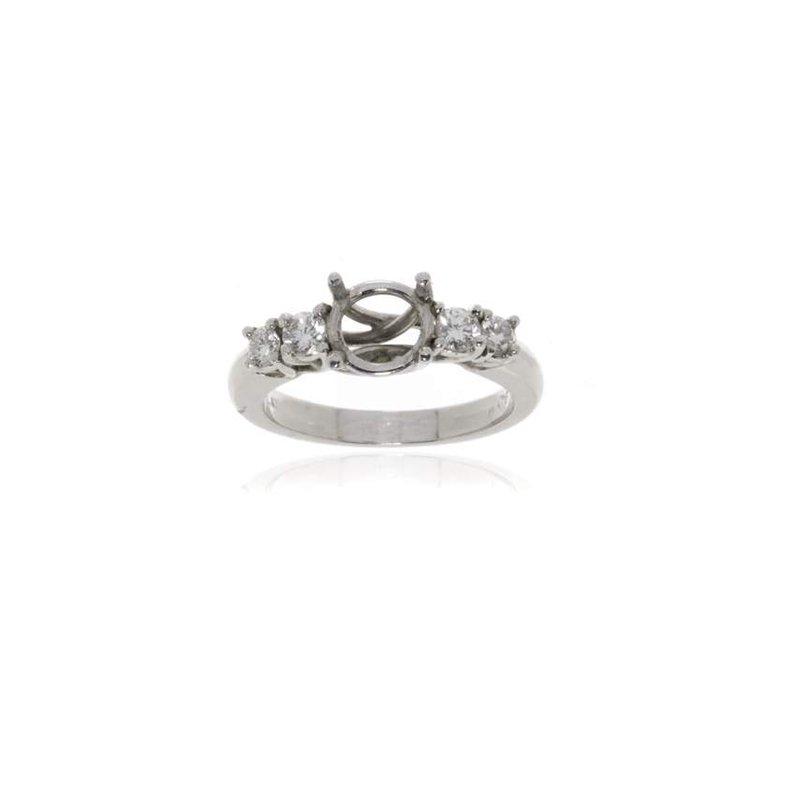 Platinum and Diamond Semi-Mount Engagement Ring