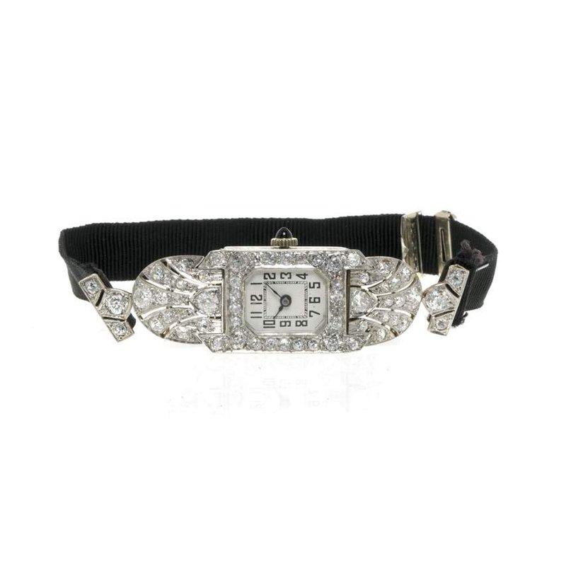 Platinum and Diamond Vintage Ladies Watch