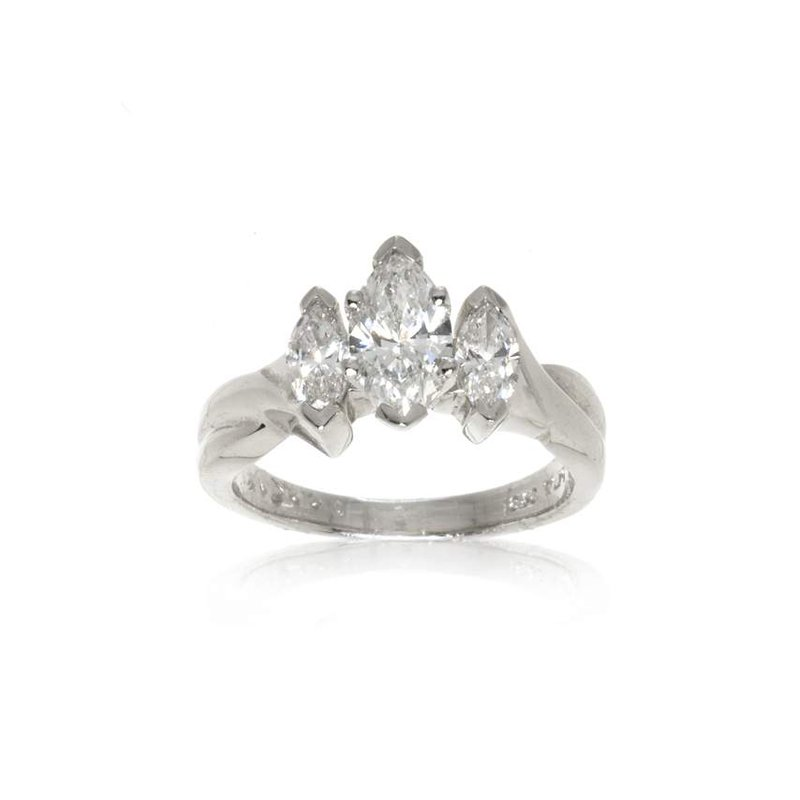Platinum and Diamond Three Stone Ring