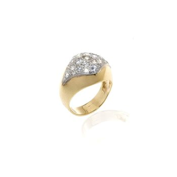 18K Two-Tone Gold and Diamond Ring