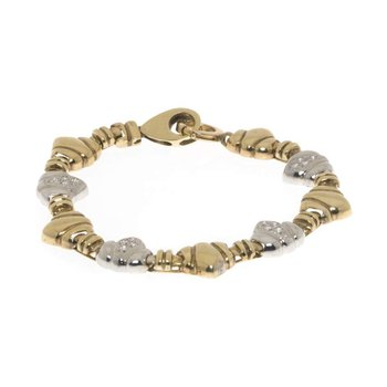 14K Two-Tone Gold and Diamond Bracelet