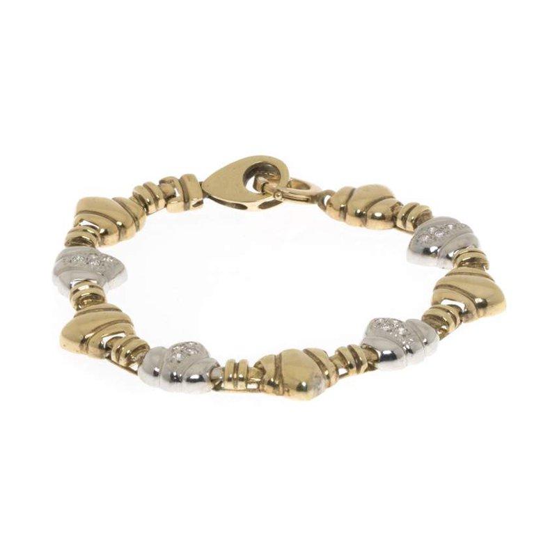 14K Two-Tone Gold and Diamond Bracelet