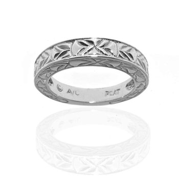 Platinum Wedding Band with Engraving