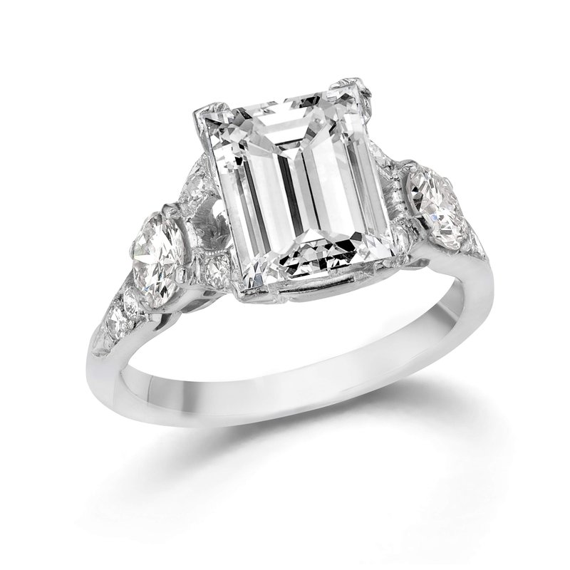 14K White Gold and Diamond Vintage Setting