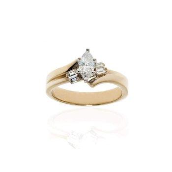 14K Yellow Gold and Diamond Wedding Set