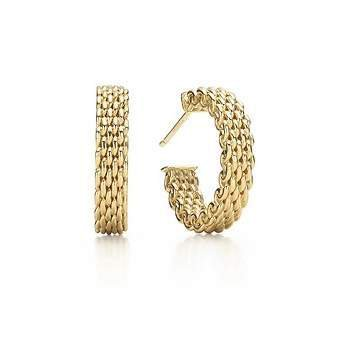 Tiffany & Co.  Somerset Mesh Hoop Earrings