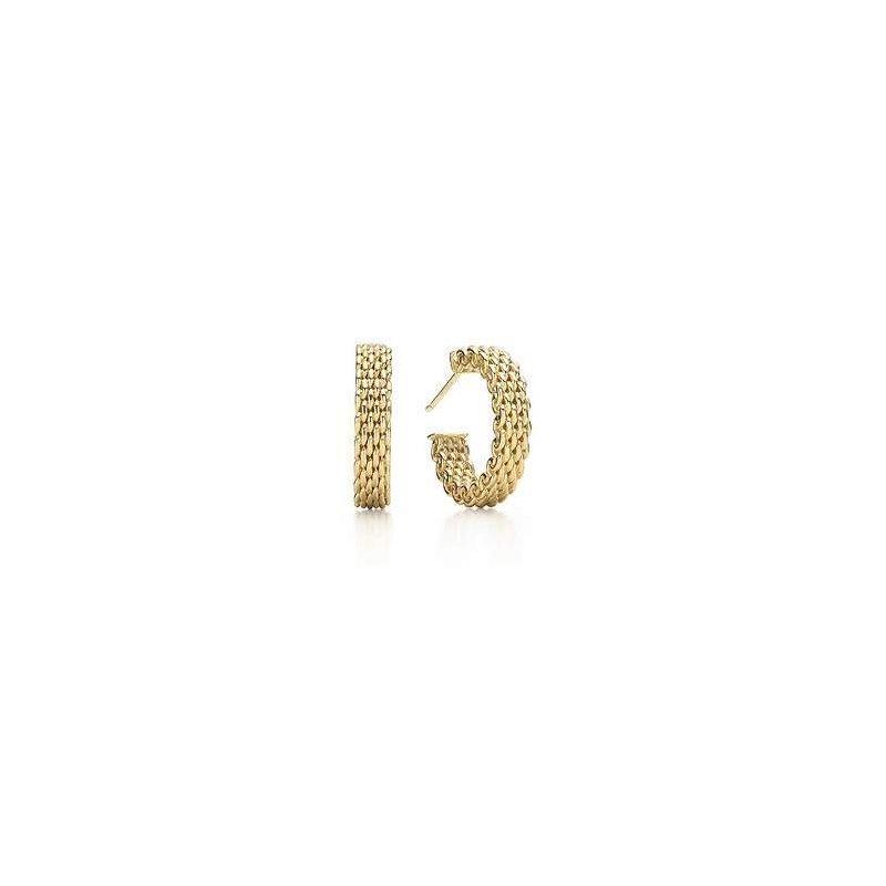 Tiffany & Co.  Somerset Mesh Hoop Earrings