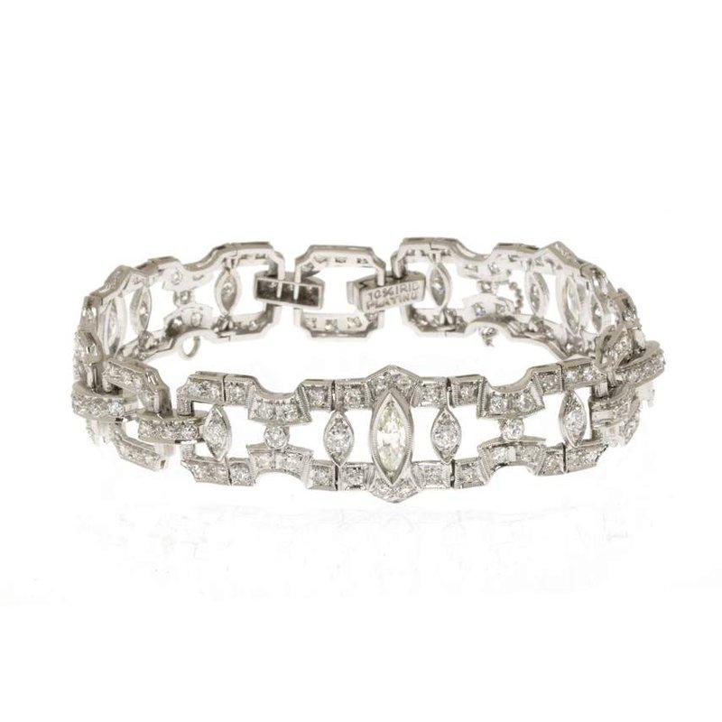 Platinum and Diamond Vintage Bracelet