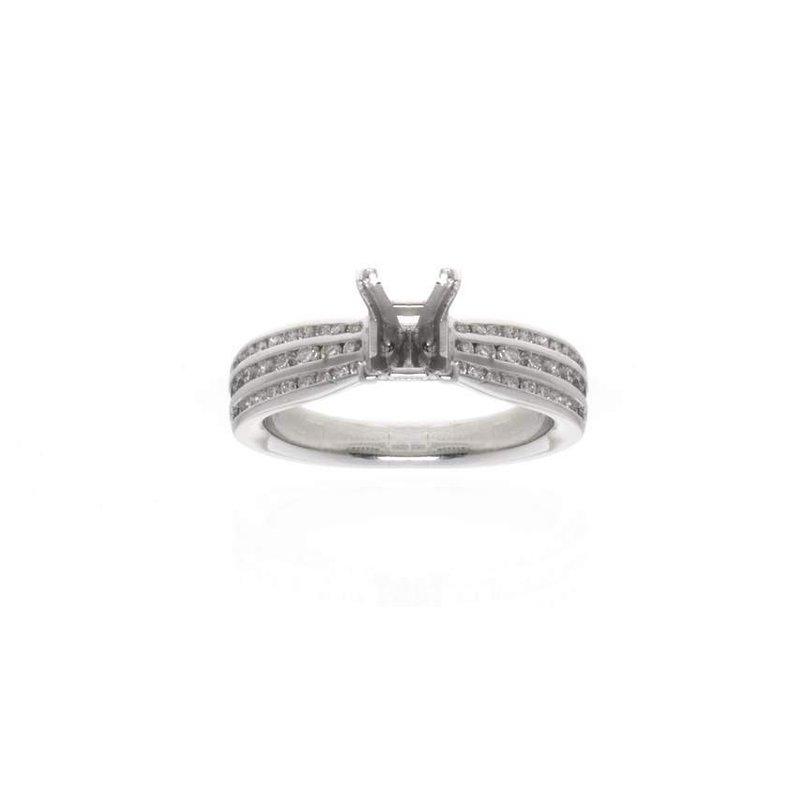 Ritani,  Platinum and Diamond Vintage Engagement Ring