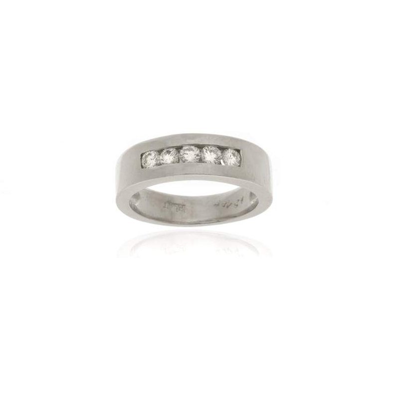 Platinum and Diamond Ladies Wedding Band
