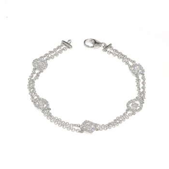 Hearts on Fire-  Vintage, 18K White Gold and Diamond Bracelet