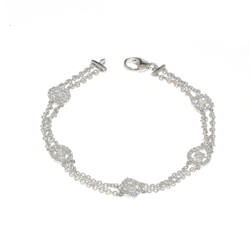 Hearts on Fire-  Vintage, 18K White Gold and Diamond Bracelet
