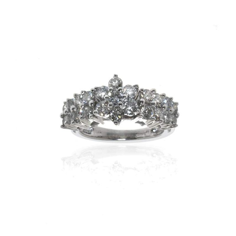 14K White Gold and Diamond Cocktail Ring