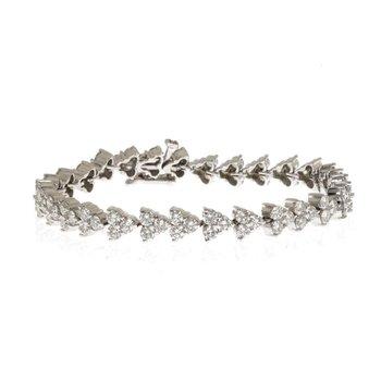 14K White Gold and Diamond Tennis Bracelet