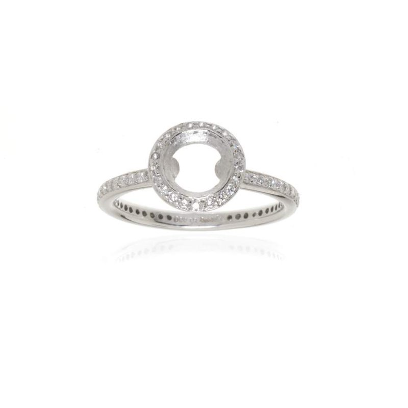 Ritani,  Platinum and Diamond Vintage Halo Engagement Ring