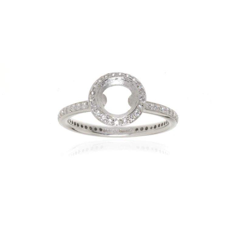 Ritani,  Platinum and Diamond Vintage Halo Engagement Ring