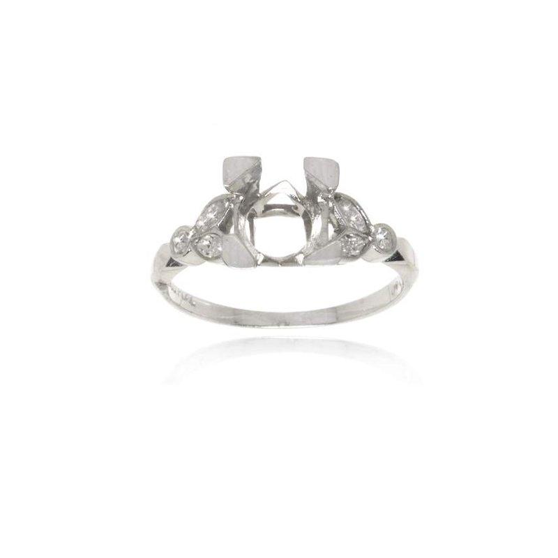 Platinum and Diamond Vintage Engagement Ring