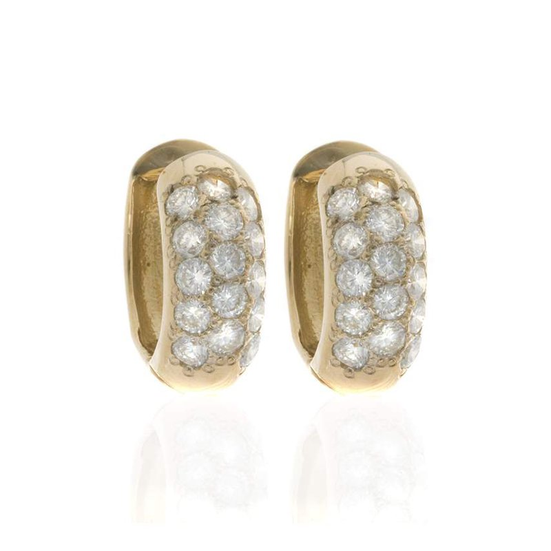 14Kt Yellow Gold and Diamond Earrings