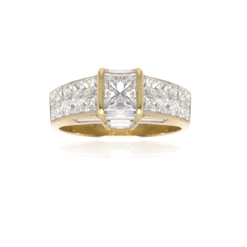 18K Gold and Diamond Engagement Ring