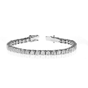 18K White Gold and Diamond Tennis Bracelet