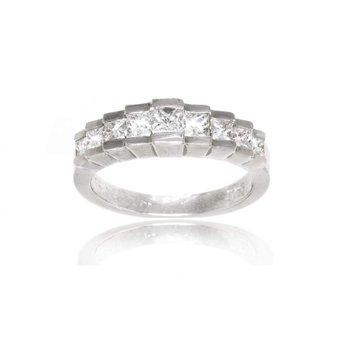 Platinum and Diamond Ladies Wedding Band