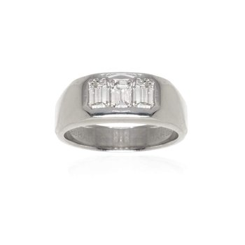 Platinum and Diamond Gentleman's Ring