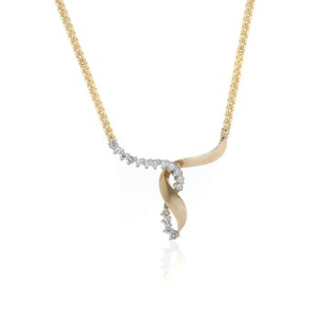 14K Yellow Gold and Diamond Enhancer Necklace