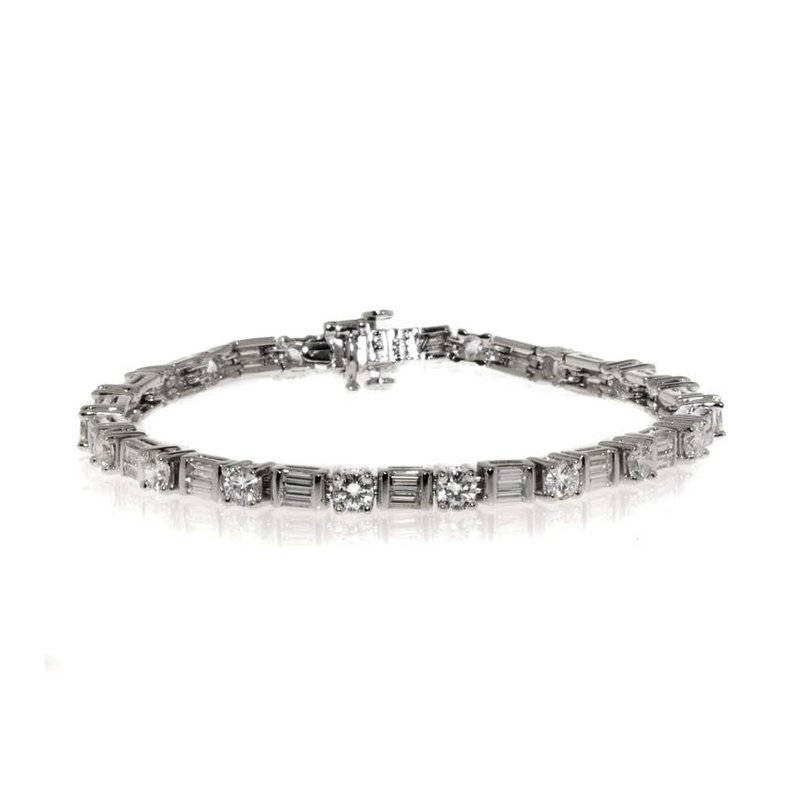 Platinum and Diamond Tennis Bracelet