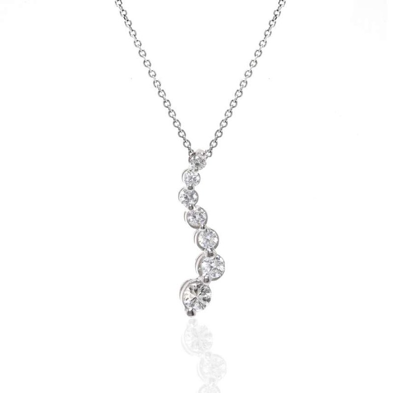 14K White Gold Journey Necklace