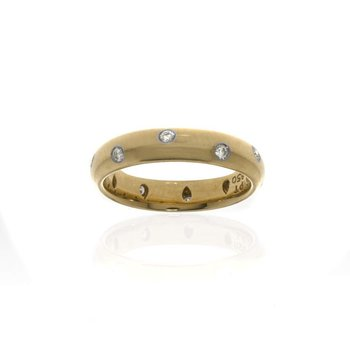 Tiffany & Co. 18K Yellow Gold with Platinum and Diamond Wedding Band