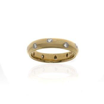 Tiffany & Co. 18K Yellow Gold with Platinum and Diamond Wedding Band
