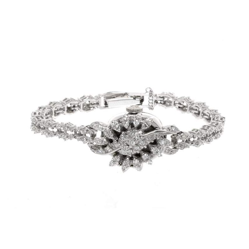 Diamond Vintage Ladies Watch with Hamilton Movement
