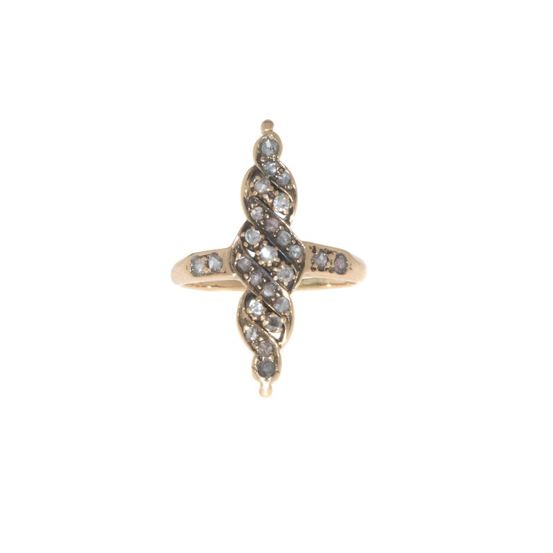 14K Yellow Gold and Diamond Vintage Ring