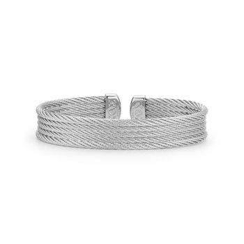 Grey Cable Mini Cuff