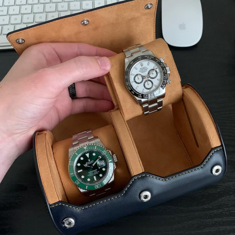 Leather Watch Roll (2 Watches)