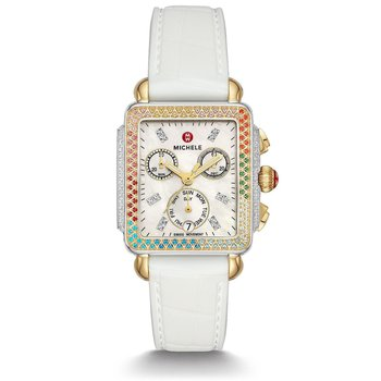 Deco Carousel Two-Tone Diamond Womens Watch