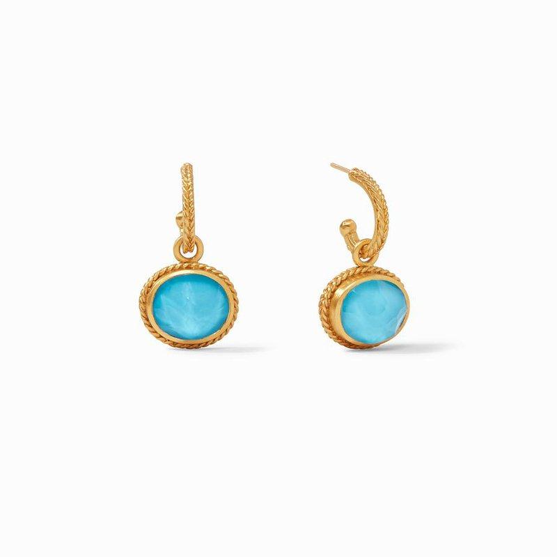 Julie Vos L Calypso Hoop & Charm Earring