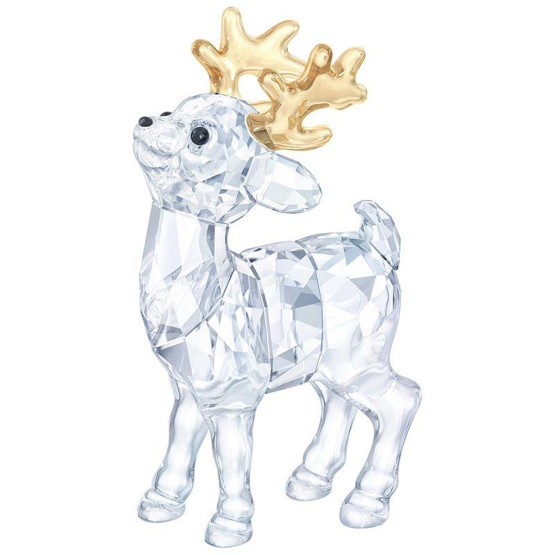 Swarovski Crystal Christmas Figurine Santa'S Reindeer