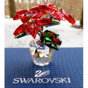 Crystal Christmas Small Poinsettia Figurine