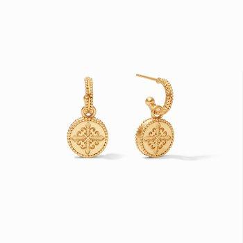 Fleur-De-Lis Hoop & Charm Earring