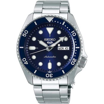 Seiko 5 Sports 24-Jewel Automatic Watch With Blue Dial And Ss Bracelet