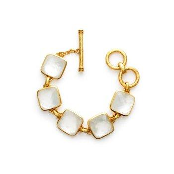 Catalina Iridescent Chalcedony Blue Bracelet