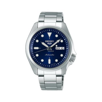 Seiko 5 Sports Automatic Blue Dial Day/Date Silver-Tone Stainless Men'S Watch Srpe53