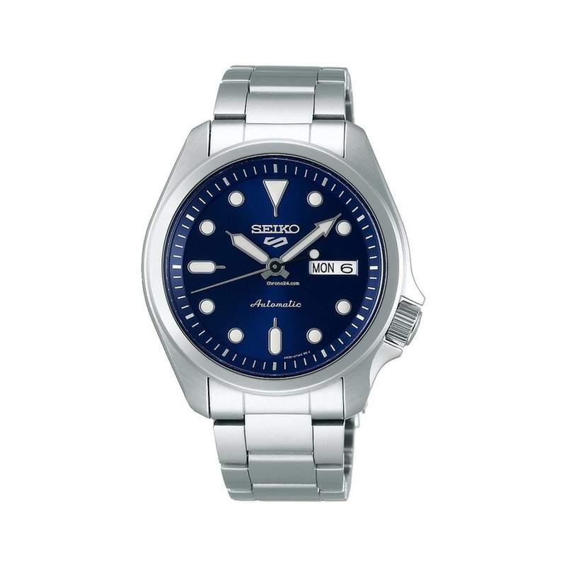 Seiko Seiko 5 Sports Automatic Blue Dial Day/Date Silver-Tone Stainless Men'S Watch Srpe53