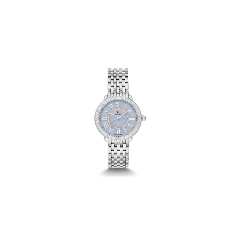 MICHELE Serein Mid Stainless Diamond Dial Watch