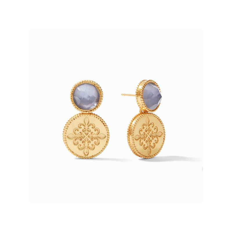Julie Vos L Fleur-De-Lis Earring In Iridescent Slate Blue