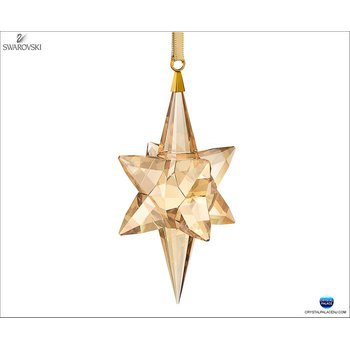 Star Ornament Gold Tone Large